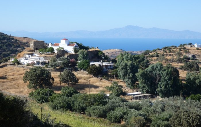 View on Episkopi and Andros, Kea, Cyclads, Greece